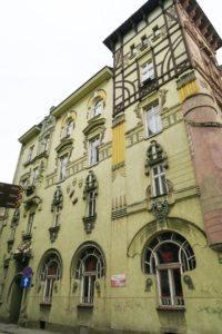 "Rudolf Nahowski's Residential House, better known as The ""Frog"" House. Photo courtesy of Jennifer Polasek."