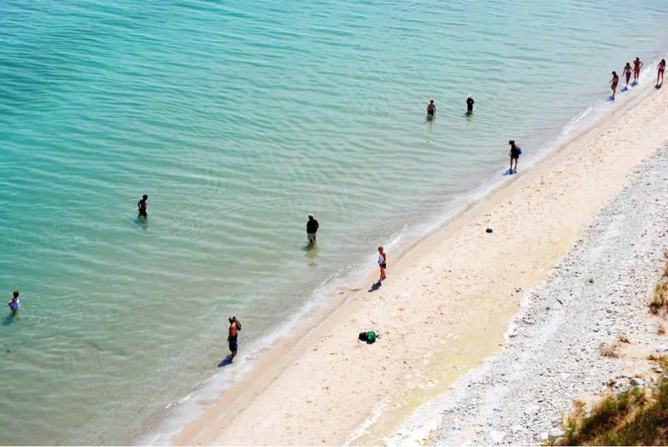 Manitou Island beach - The Awesome Mitten