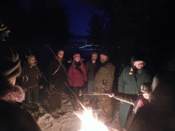 Bonfire at Straits Area State Park - St. Ingnace