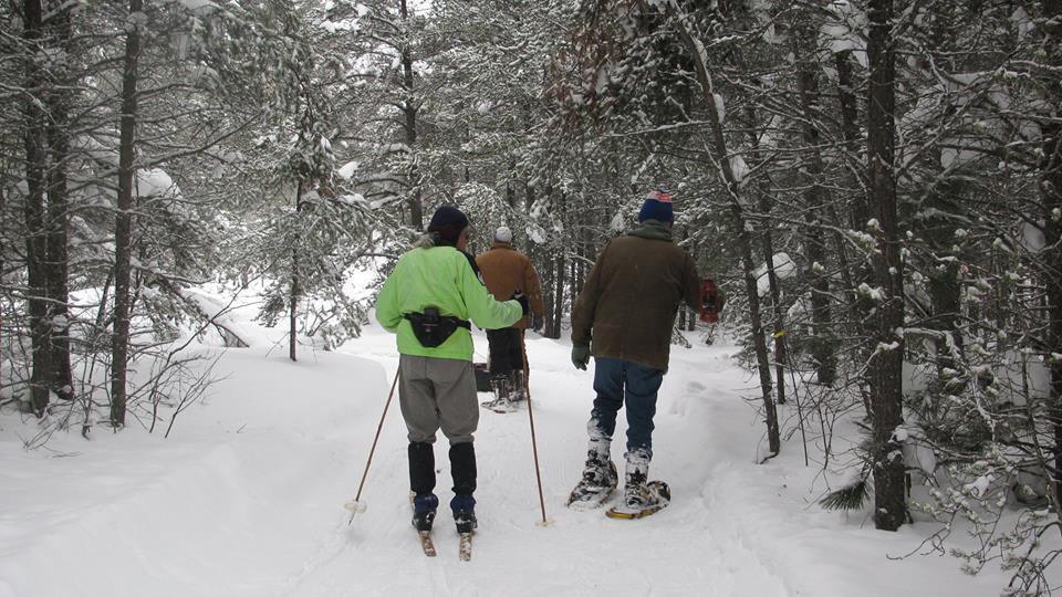 Volunteers preparing for winter carnival - Paradise, Michigan