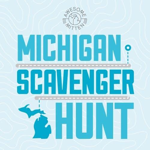 MIScavengerHunt Logo new Michigan's Birthday Scavenger Hunt