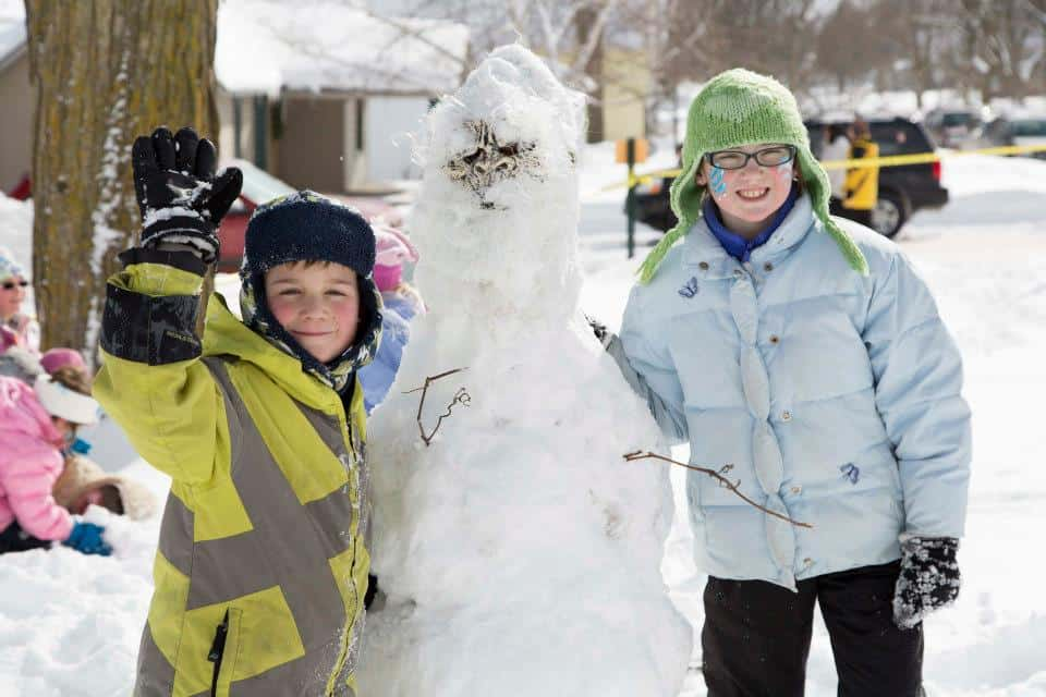 Come prepared for the snowman building competition! Photo courtesy of Yetifest
