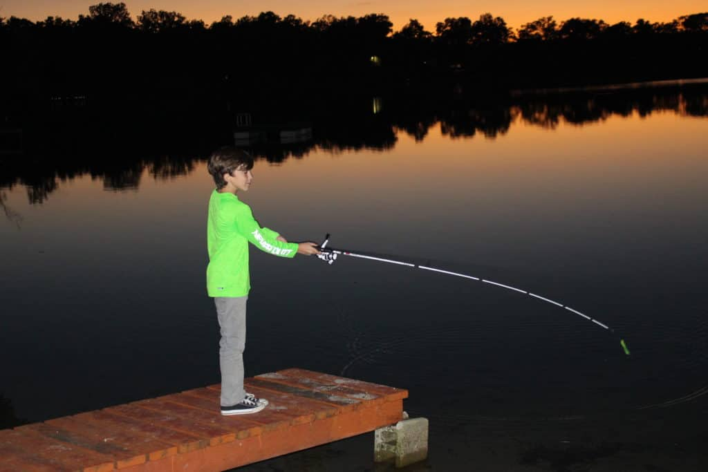 Nighttime Dock Fishing in Brighton. Photo by Michele Eichstead