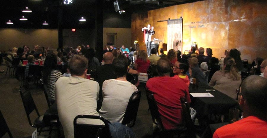 A performer entertains guests of all ages at Mark Ridley's Comedy Castle. Photo courtesy of Magic for a Cause