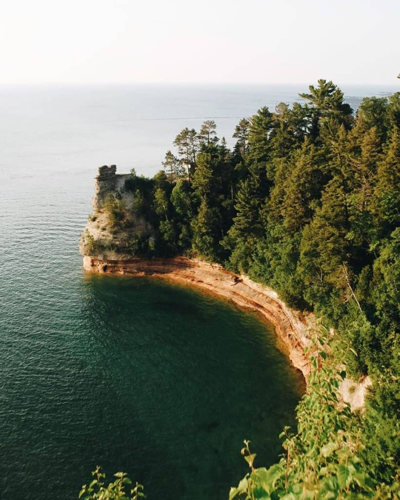 Chapel Rock in Pictured Rocks National Lakeshore - Upper Peninsula Road Trip - The Awesome Mitten