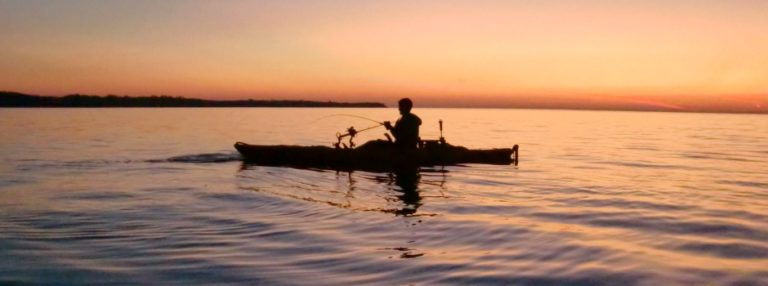 Kayak Fishing at Sunset. Photo courtesy of Kayak Fish the Great Lakes