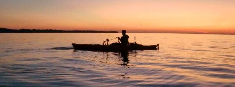 Kayak Fishing at Sunset. Photo courtesy of Kayak Fish the Great Lakes