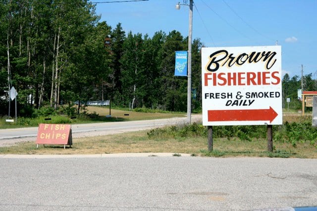 Brown Fisheries Jesse1 Tips for Visiting Tahquamenon Falls | My First Time at Tahquamenon Falls