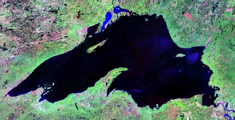 Satellite image of Lake Superior. Photo courtesy of NASA