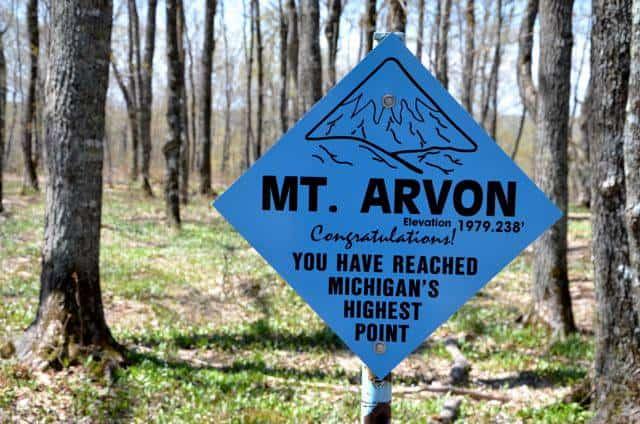 Mount Arvon - Michigan's Highest Point
