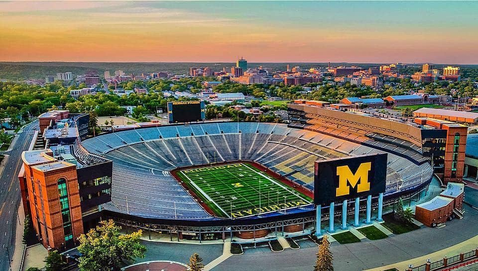 The Big House at University of Michigan. Photo courtesy of slydro Instagram - The Awesome Mitten