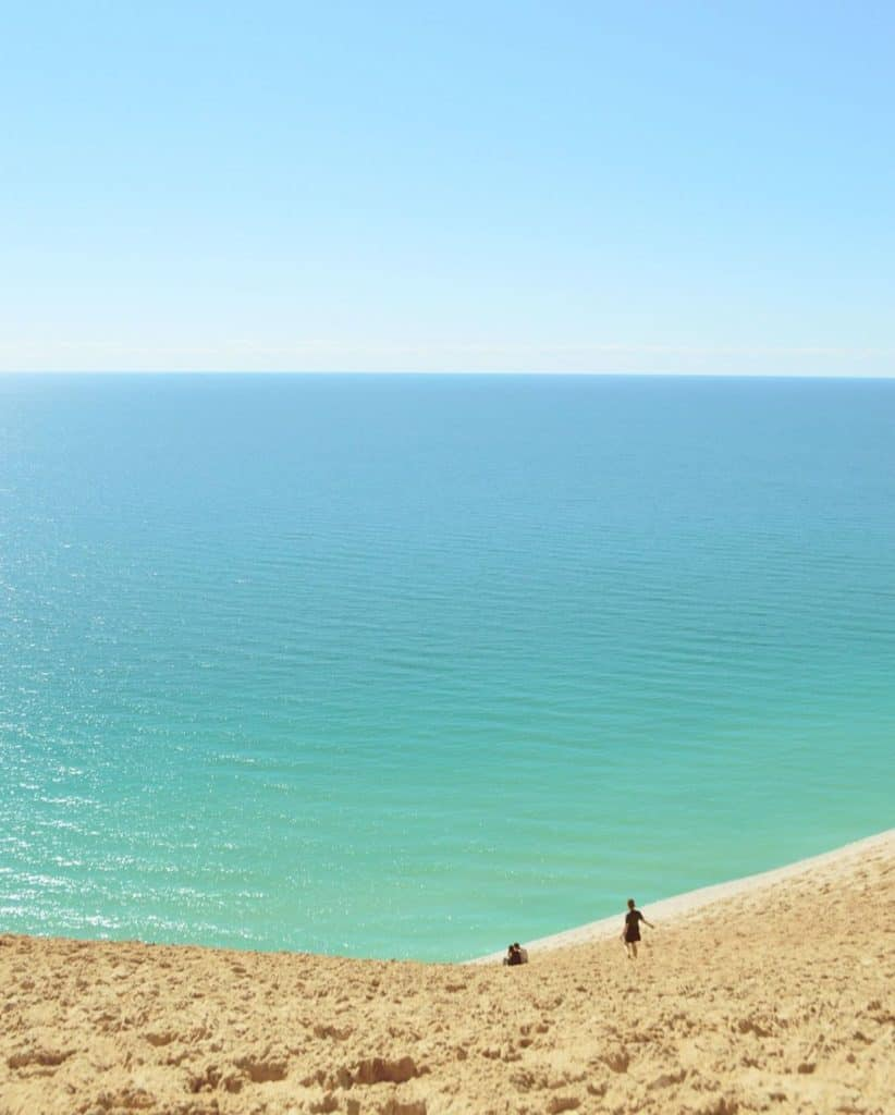 Lake Michigan at Sleeping Bear Dunes. Photo courtesy of anna_cookk Instagram - The Awesome Mitten