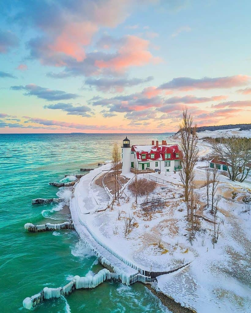 Point Betsie Light. Photo courtesy of tmahlmann Instagram - The Awesome Mitten