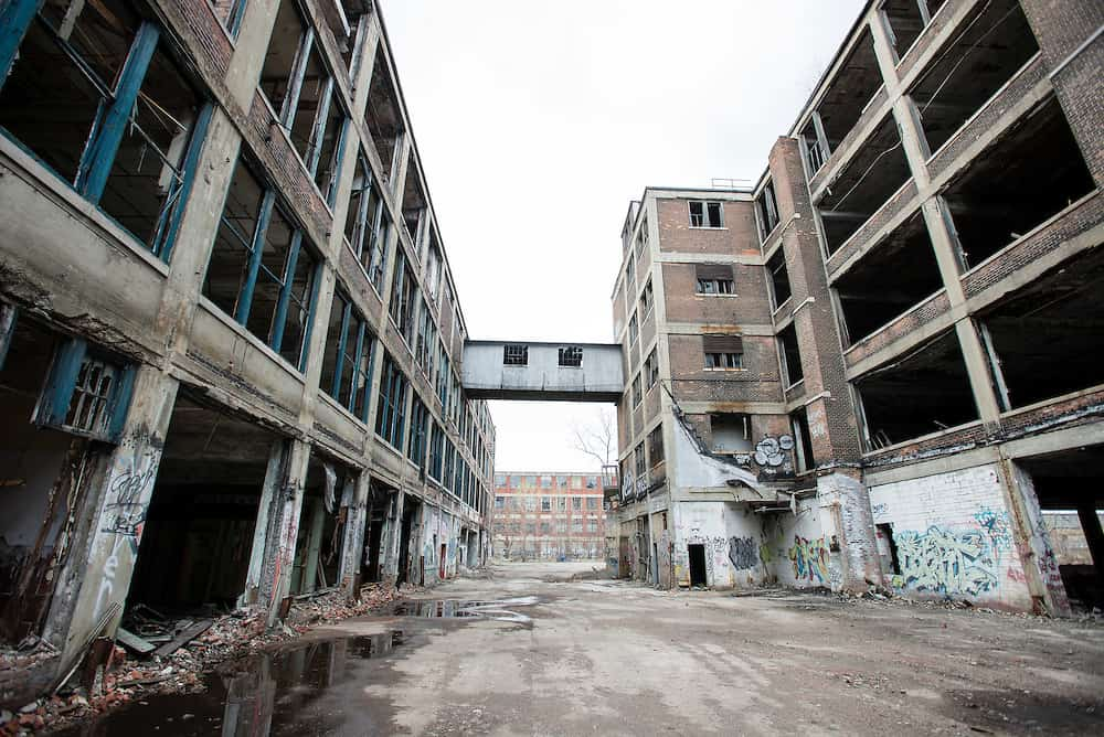 Vacant remains of the Packard Automative Plant - The Awesome Mitten
