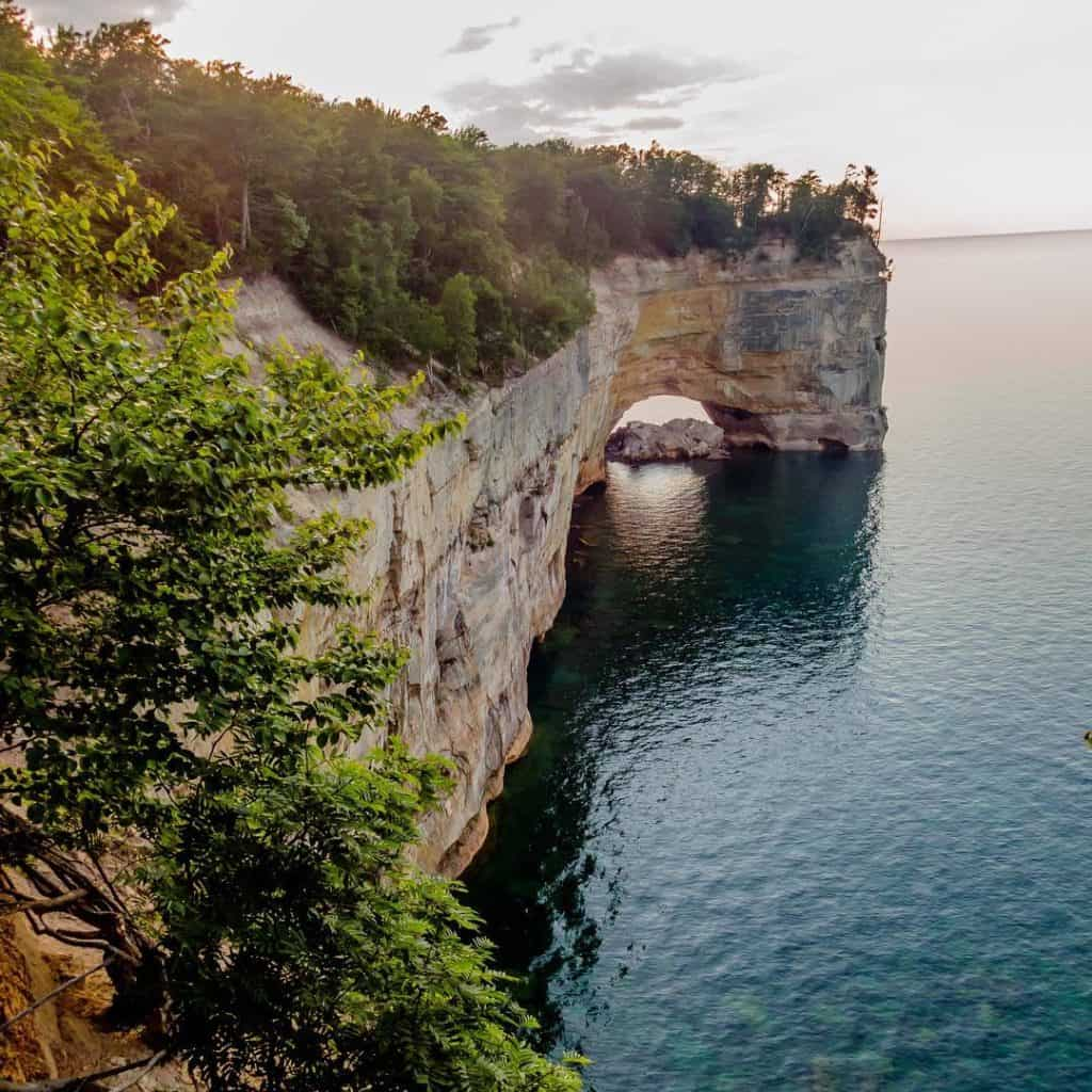 Arch Rock at Pictured Rocks National Lakeshore. Photo courtesy of krystle_gail Instagram - The Awesome Mitten