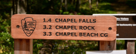 Hike to Chapel Falls in Pictured Rocks