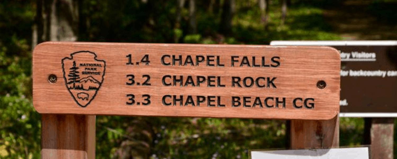 Chapel Falls in Pictured Rocks National Lakeshore near Munising, Michigan