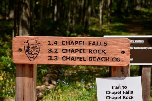 chapel falls sign