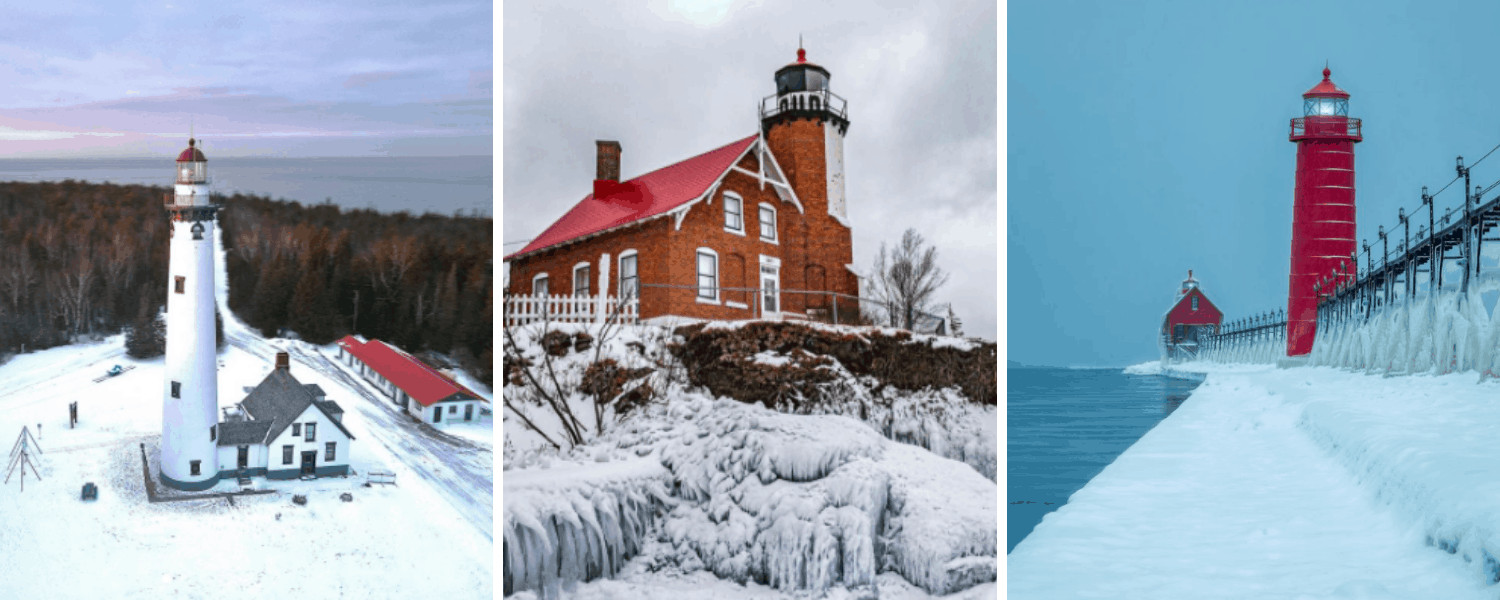 25+ Breath-Taking Photos of Michigan Lighthouses in Winter