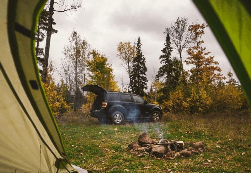 Fall Camping in Keweenaw Penisula in Michigan