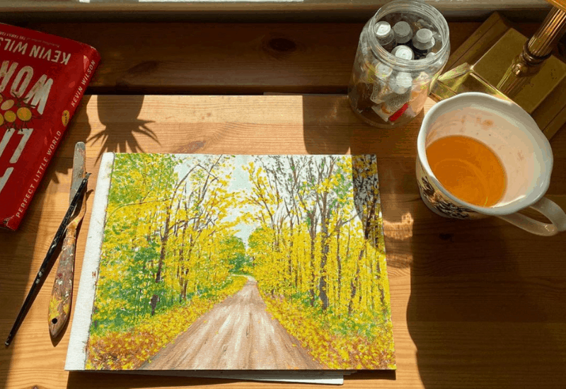Fall in Michigan - painting