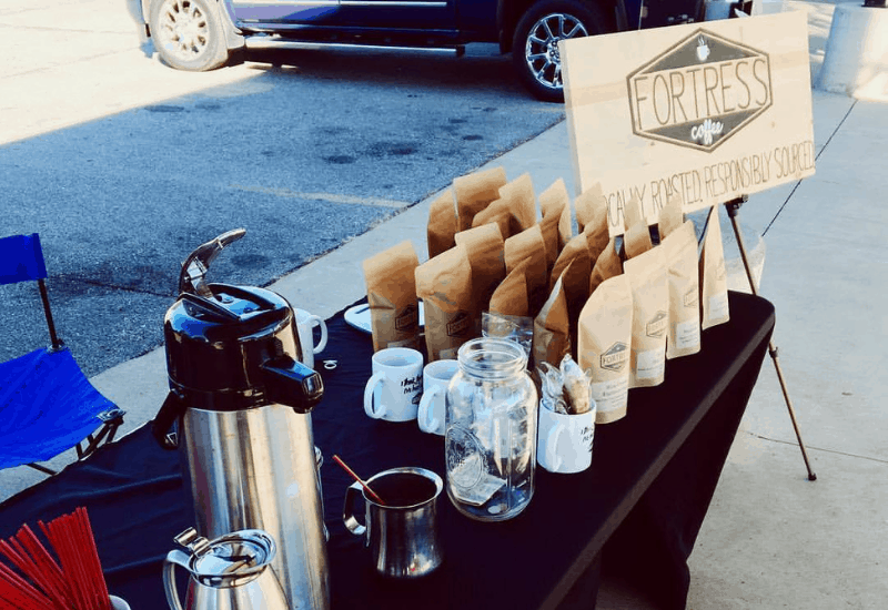 Fortress Coffee at the Grand River Farmers Market in Jackson Michigan