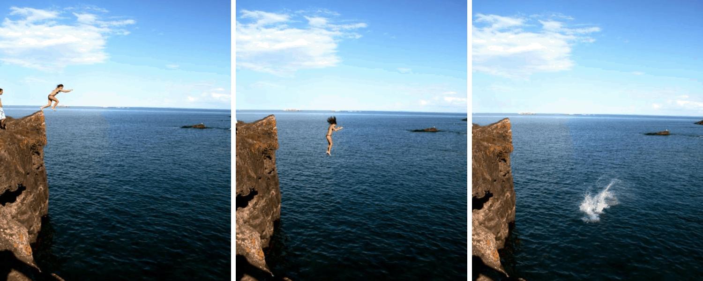 Cliff Jump Black Rocks Marquette