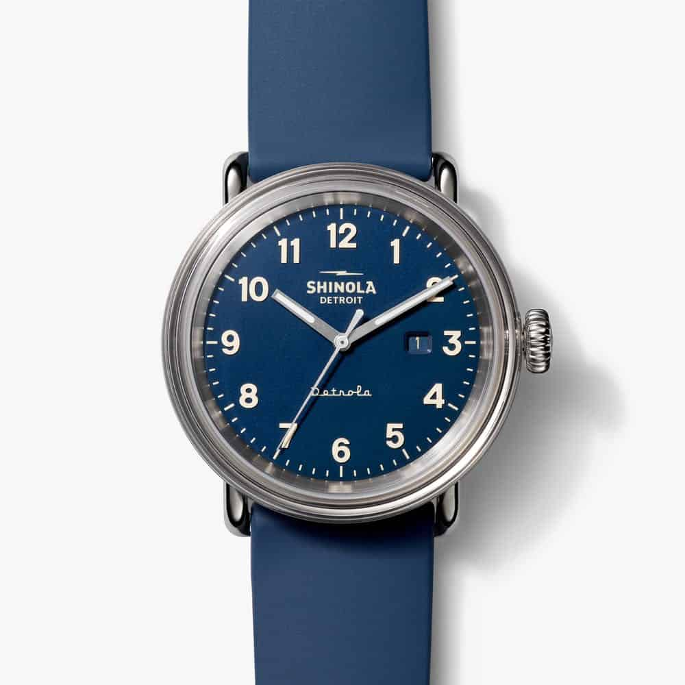 The Daily Wear Detrola 43MM Watch from Shinola - an ultimate michigan gift idea