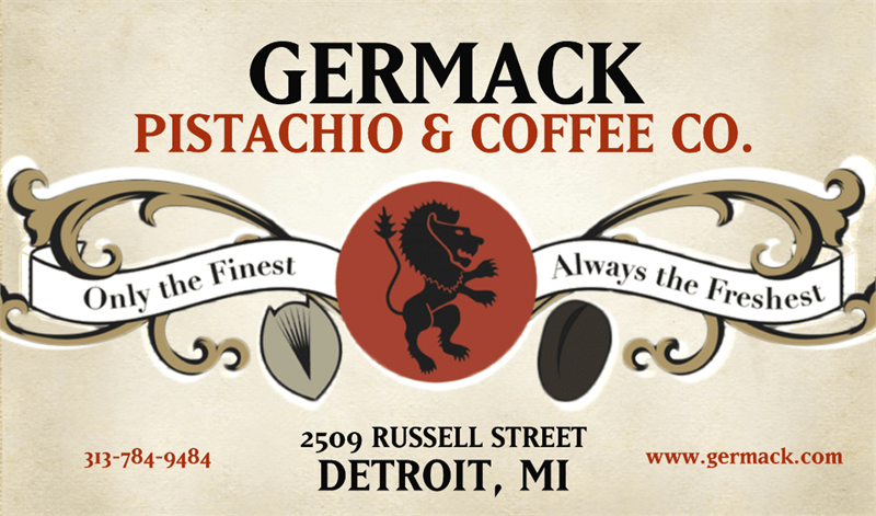 Germack Pistachio & Coffee Co Gift Certificate - an ultimate michigan gift idea