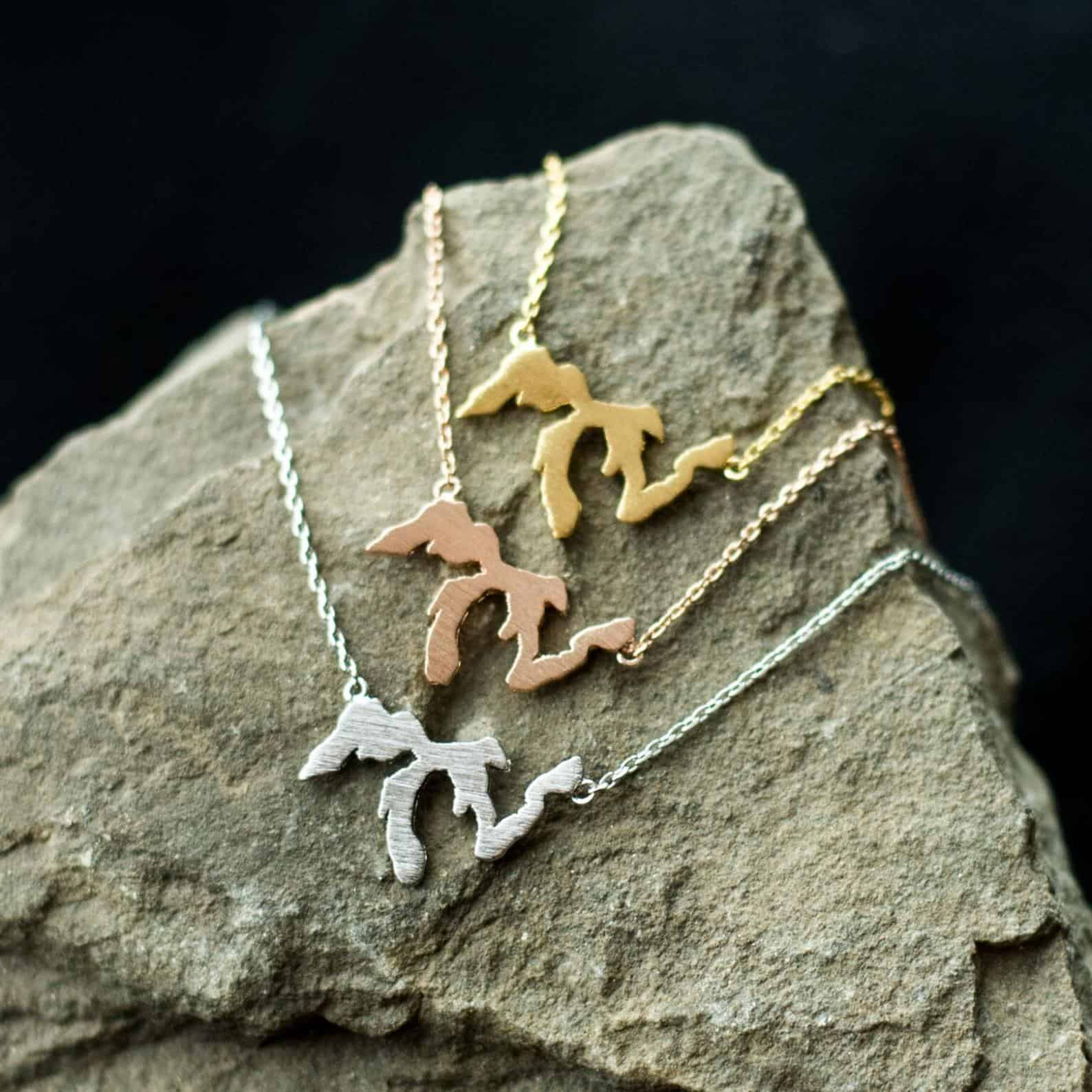 Great Lakes Necklace - an ultimate michigan gift idea