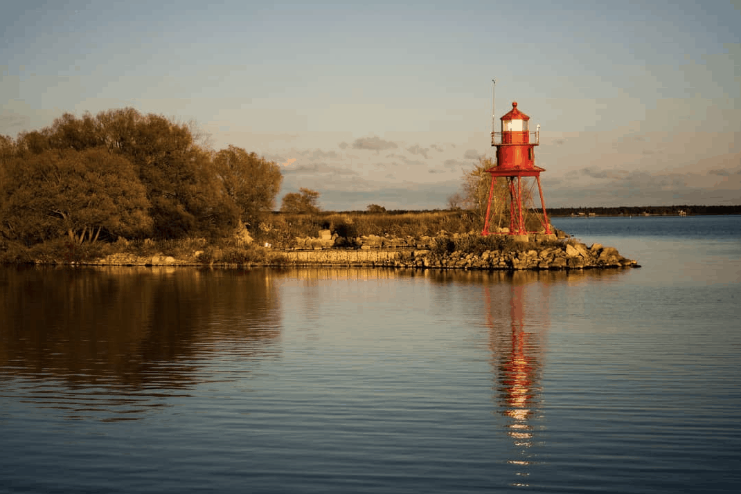 Alpena Michigan Lighthouse House - Fall in Michigan