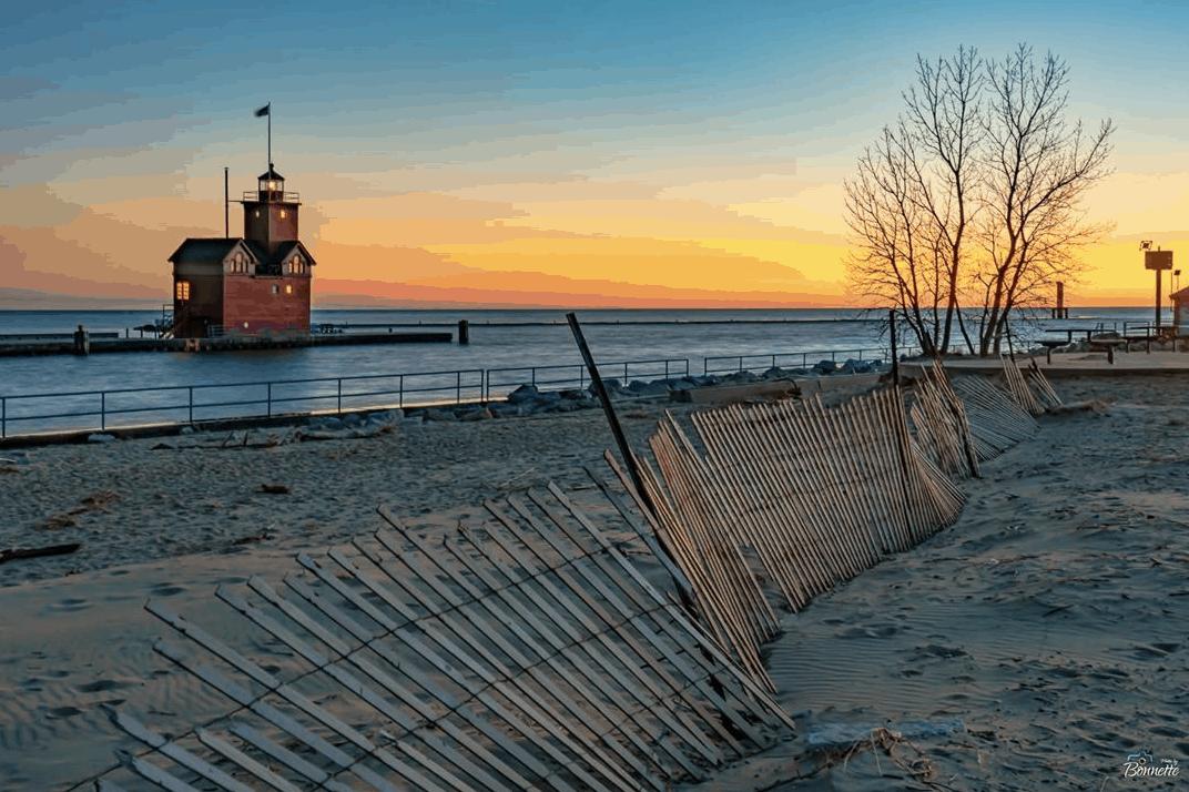 Holland Michigan lighthouse - Fall in Michigan