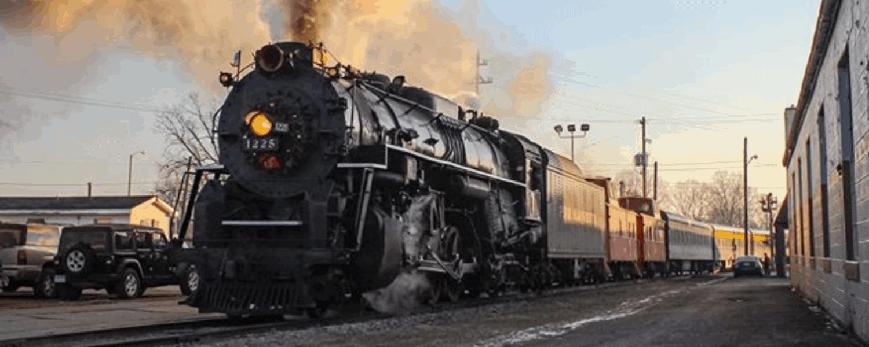 Michigan fall color train tour on the Pere Marquette 1225