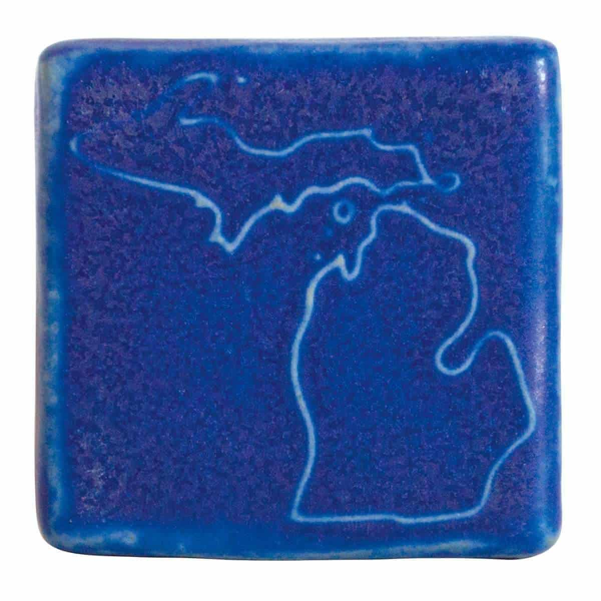 Pewabic Michigan Outline Tile - an ultimate michigan gift idea