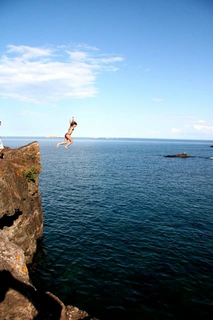 black rocks marquette jump