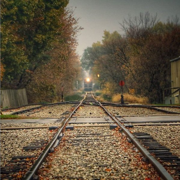 Coopersville Train - Fall in Michigan