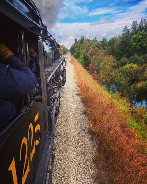 Michigan Fall Color Train Tour on Pere Marquette 1225