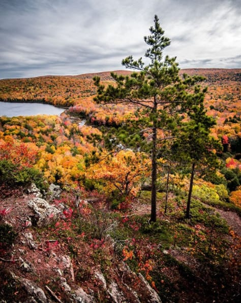 Michigan Fall Colors in Upper Peninsula - Porcupine Mountains in Fall