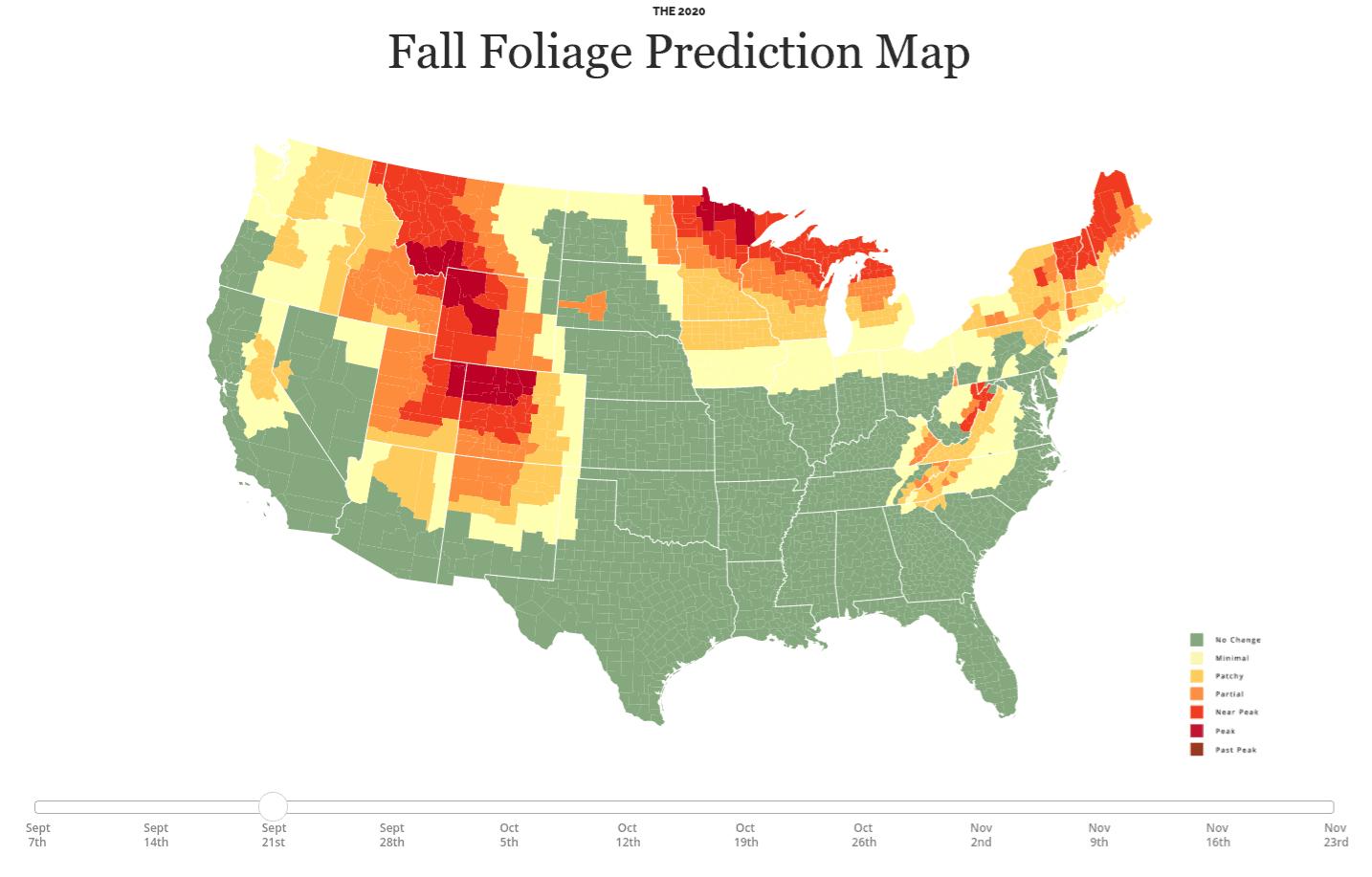 Michigan Fall Foliage Tracking Map
