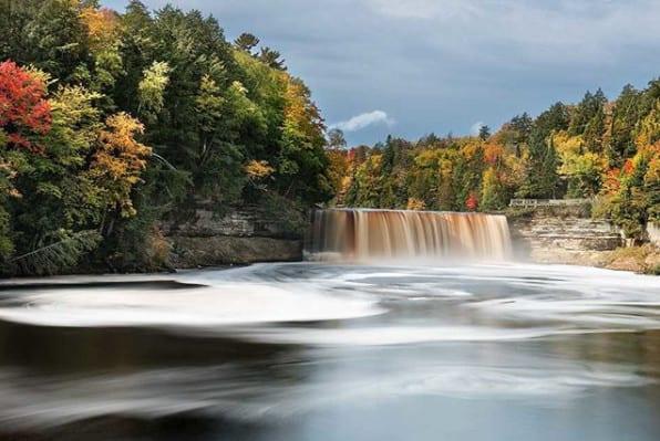 Michigan Upper Peninsula - Tahquamenon Falls - Michigan fall colors
