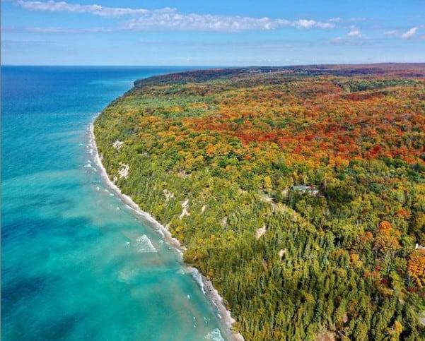 Fall in Michigan - Tunnel of Trees on M-119 - Michigan fall colors