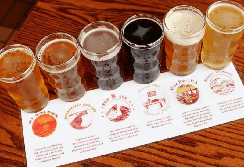 One of the BEST breweries in Traverse City: Mackinaw Brewing Company