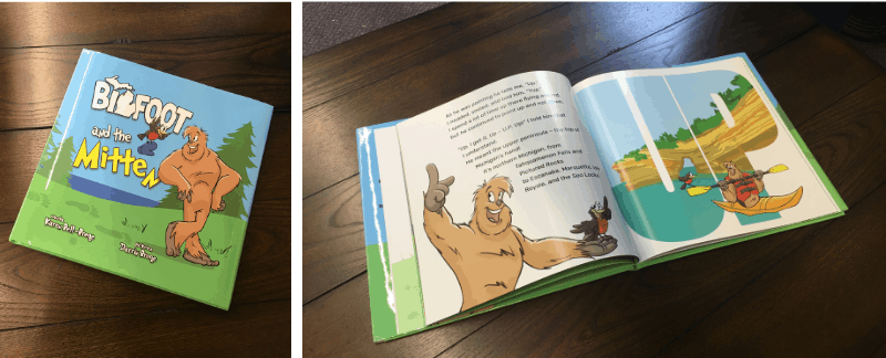 Bigfoot and the Mitten - a Michigan children's book