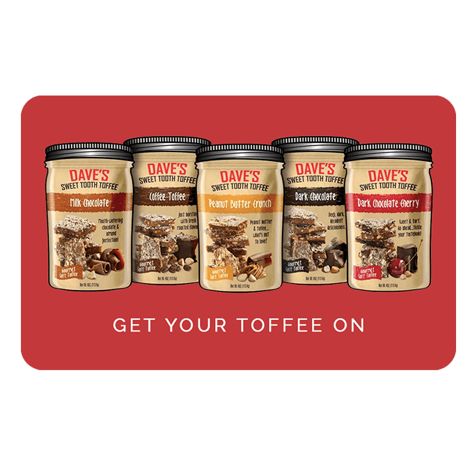 Dave's Sweet Tooth Toffee - an ultimate michigan gift idea