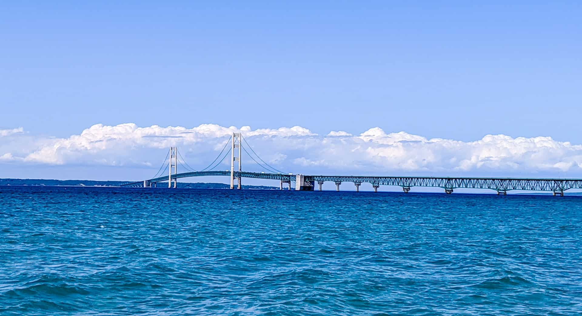 Mackinac Bridge across the water