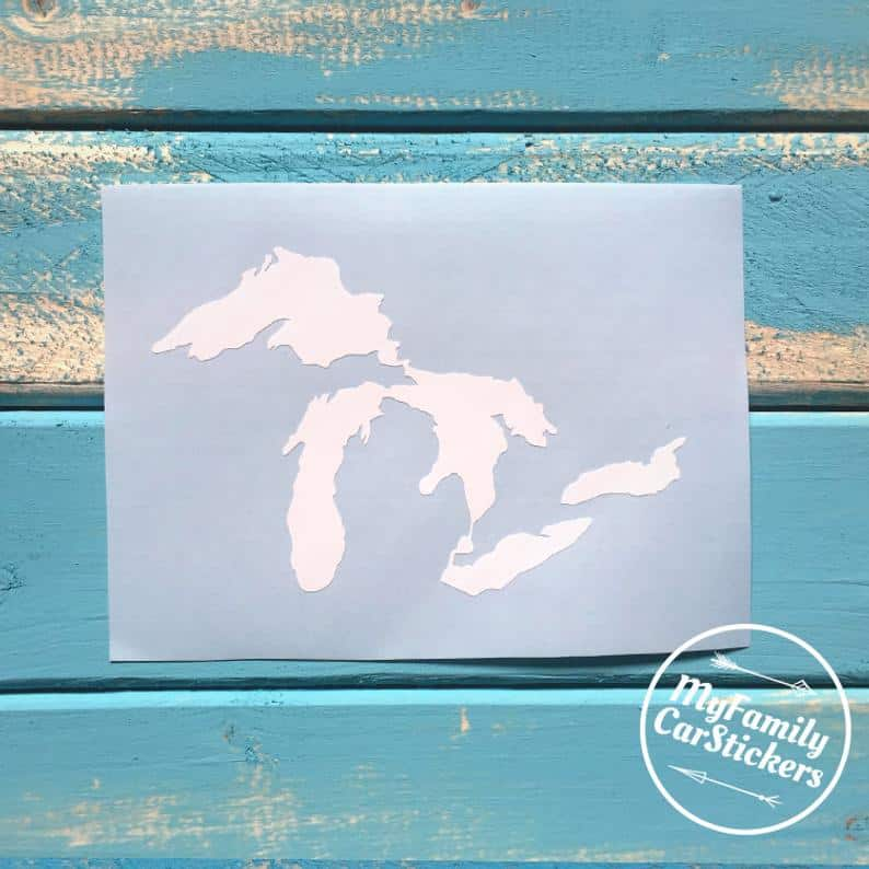 Car Decal - an ultimate michigan gift idea