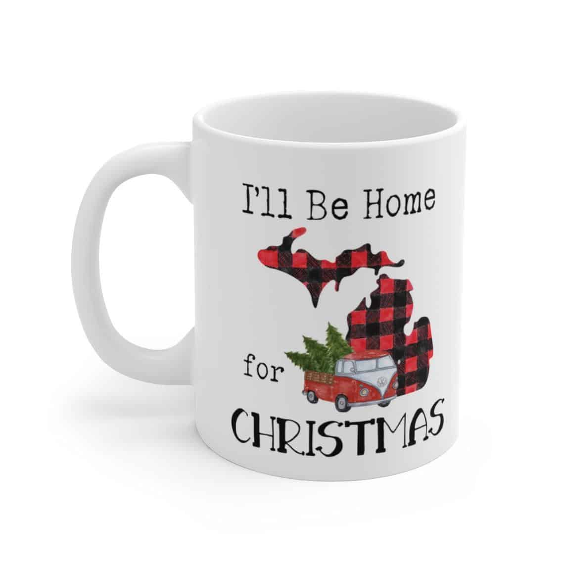 I'll Be Home For Xmas Mug - an ultimate michigan gift idea