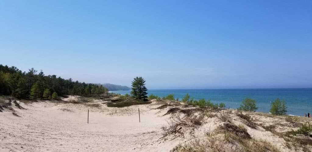lake huron beaches: hoeft state park