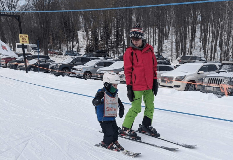 childrens skiing at ski brule