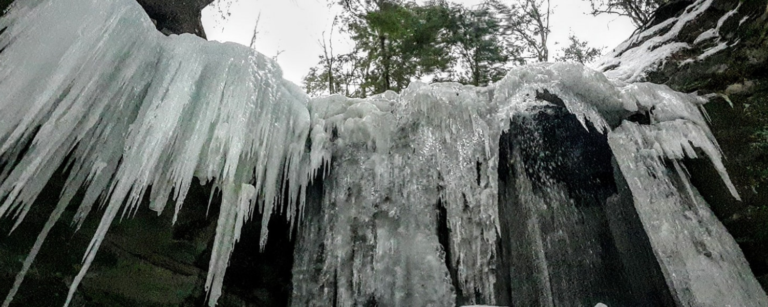 Frozen Waterfalls in Michigan